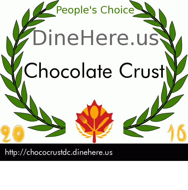 Chocolate Crust DineHere.us 2016 Award Winner